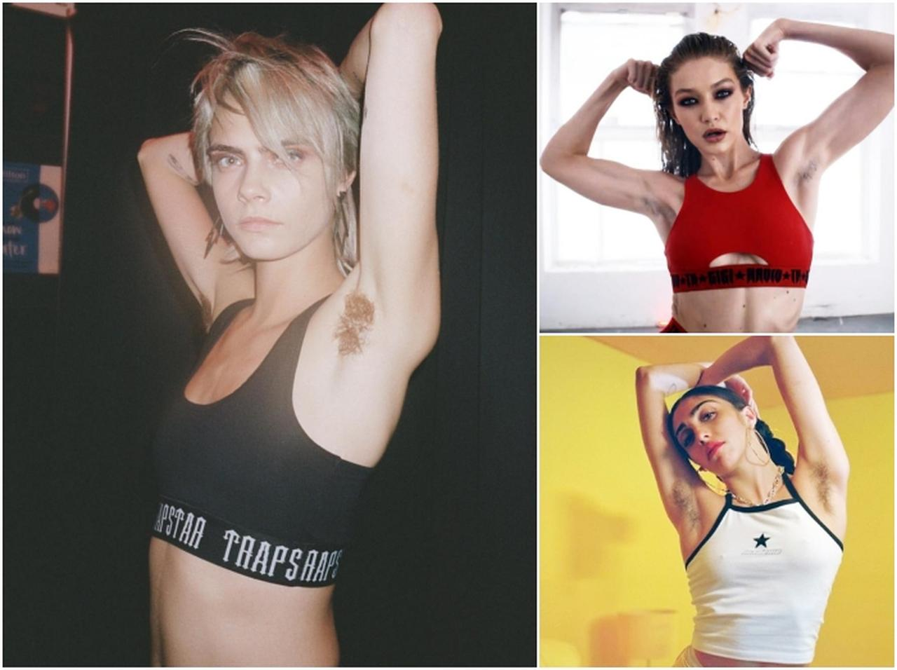画像: 左:カーラ・デルヴィーニュ、右上:ジジ・ハディッド、右下:ローデス・レオン。(Photo: Cara Delevingne/ Instagram, Love Magazine/ Youtube, Madame NYC/ Instagram)