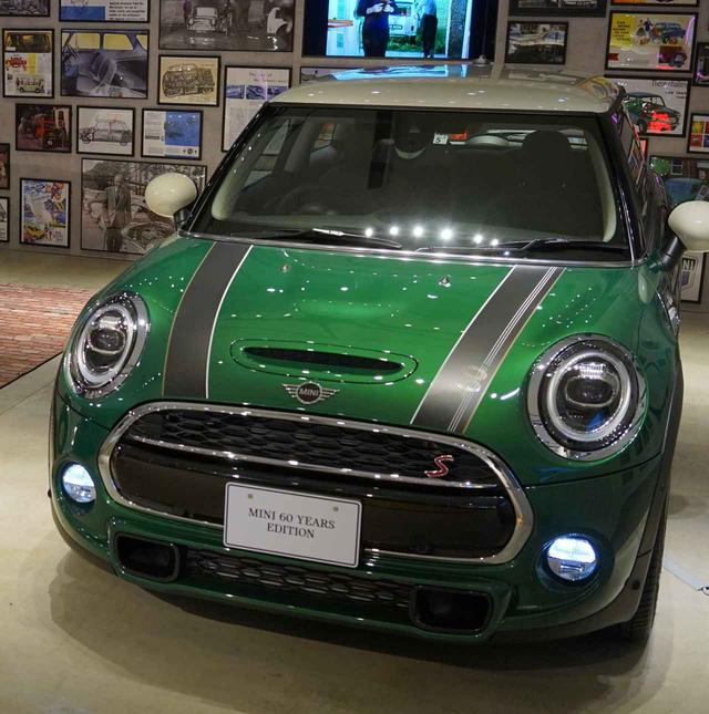 画像1: ミニ生誕60周年記念の特別仕様車「MINI 60 Years Edition」も展示