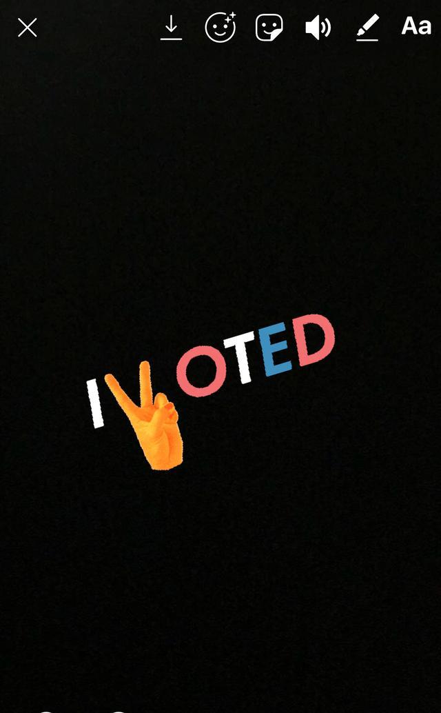 画像4: インスタグラムのストーリーを使って「I Voted」を投稿する方法