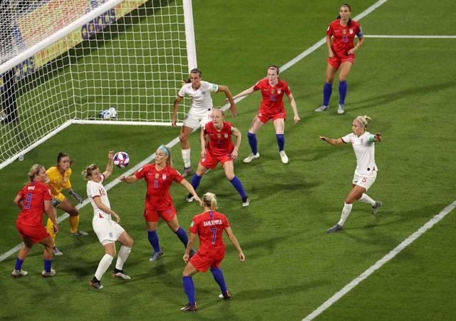 画像: 7月3日に行なわれたアメリカ対イギリスの準決勝の様子。