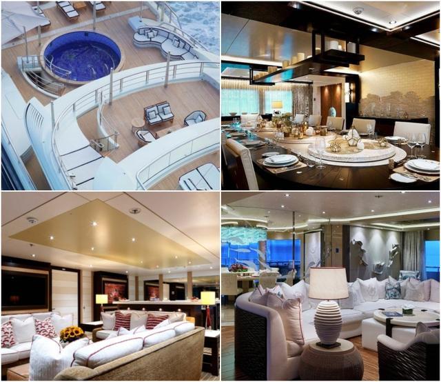 画像: 豪華な内装はもちろんプールやジムも完備。一隻の値段は日本円にして260億円と言われる。©Yacht Charter Fleet