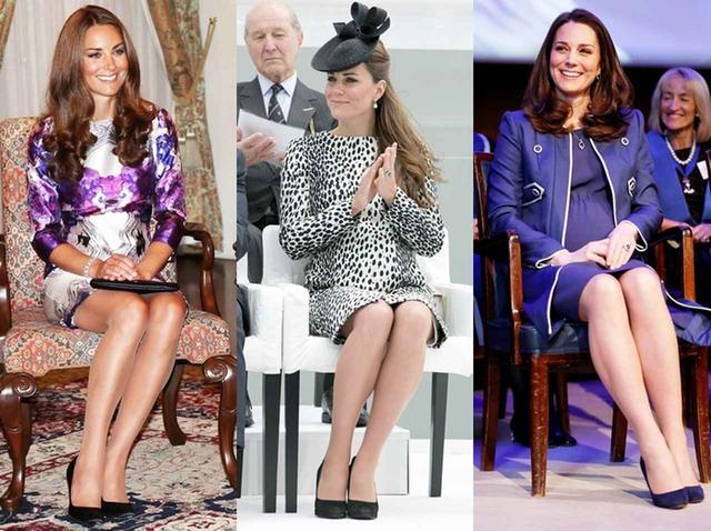 画像: イギリス王室の女性に伝わる「ダッチェス・スラント」。キャサリン妃は、長時間に及ぶ公務でも大抵この姿勢を崩さない。
