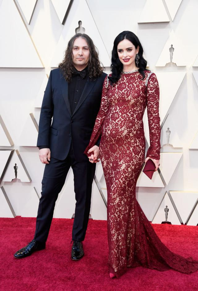 画像: 2月のアカデミー賞で大きくなったお腹を披露して妊娠を発表した。