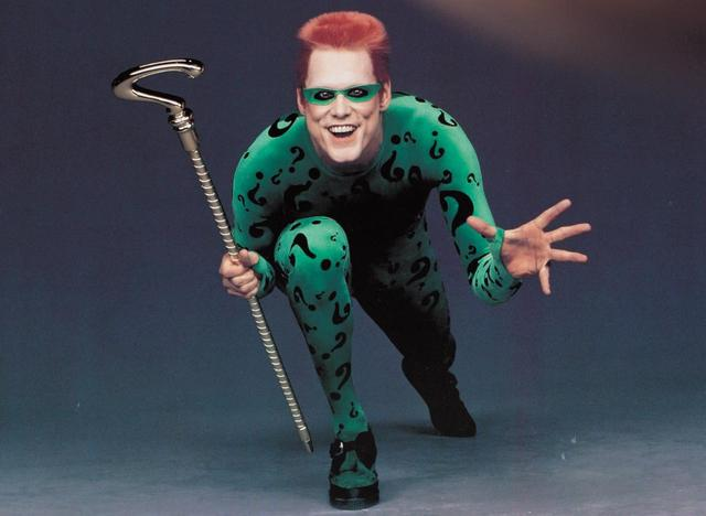 画像: 映画『バットマン フォーエヴァー』でリドラーを演じたジム・キャリー。 WARNER BROS/DC COMICS / Album/Newscom