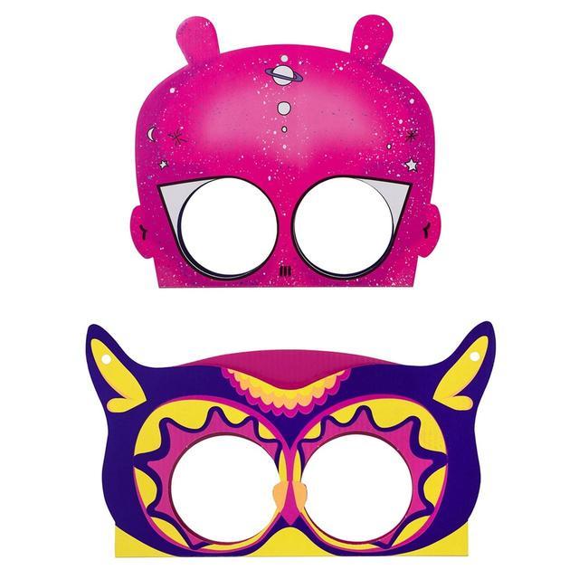 画像: 上から>アウト オブ スペース ウェアラブル マスク 250円(税込) オウル アンド プッシー キャット ウェアラブル マスク 250円(税込)
