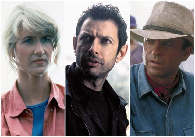 画像: 左からローラ・ダーン、ジェフ・ゴールドブラム、サム・ニール。