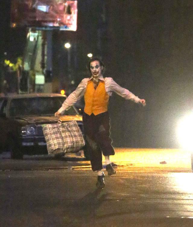 画像: 映画『ジョーカー』の撮影中の様子。