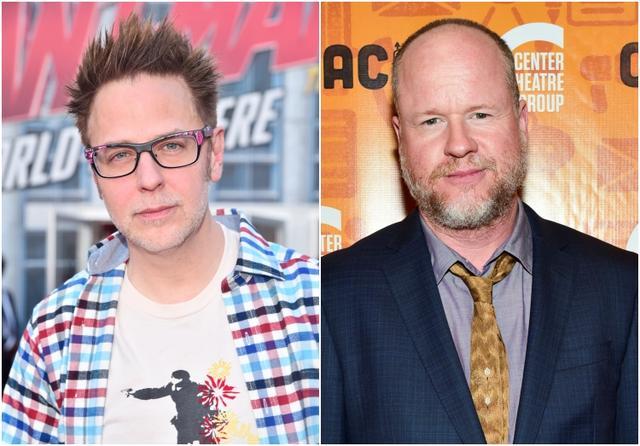 画像: 左:映画『ガーティアンズ・オブ・ギャラクシー』のジェームズ・ガン監督。過去2作の『アベンジャーズ』シリーズの制作総指揮も務めているほか、2021年に公開される、DCコミックの悪役を主体にした大ヒット映画『スーサイド・スクワッド』の続編の監督・脚本も手がける。右:『アベンジャーズ』をはじめ過去に公開されたマーベル作品の多くに携わったジョス・ウェンドン。