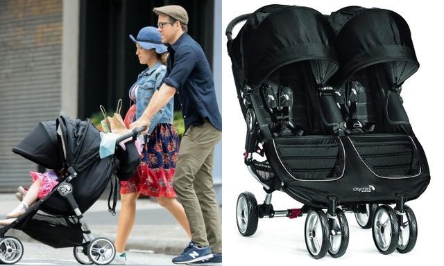 画像: ブレイク&ライアン夫妻が愛用している2人乗りベビーカーは、セレブに人気のベビー用品メーカー、ベビー・ジョガー(Baby Jogger)の「シティ・ミニ・ダブル(City Mini Double)」という子供たちが隣同士に並んで乗れるタイプの4輪ベビーカー。米アマゾンでの販売価格は449.98ドル(約49,000円)。