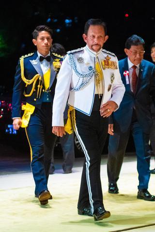ブルネイのルネイのボルキア国王陛下とマティーン王子