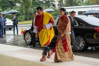 ブータンのジグミ・ケサル・ナムゲル・ワンチュク国王とジェツン・ペマ・ワンチュク王妃