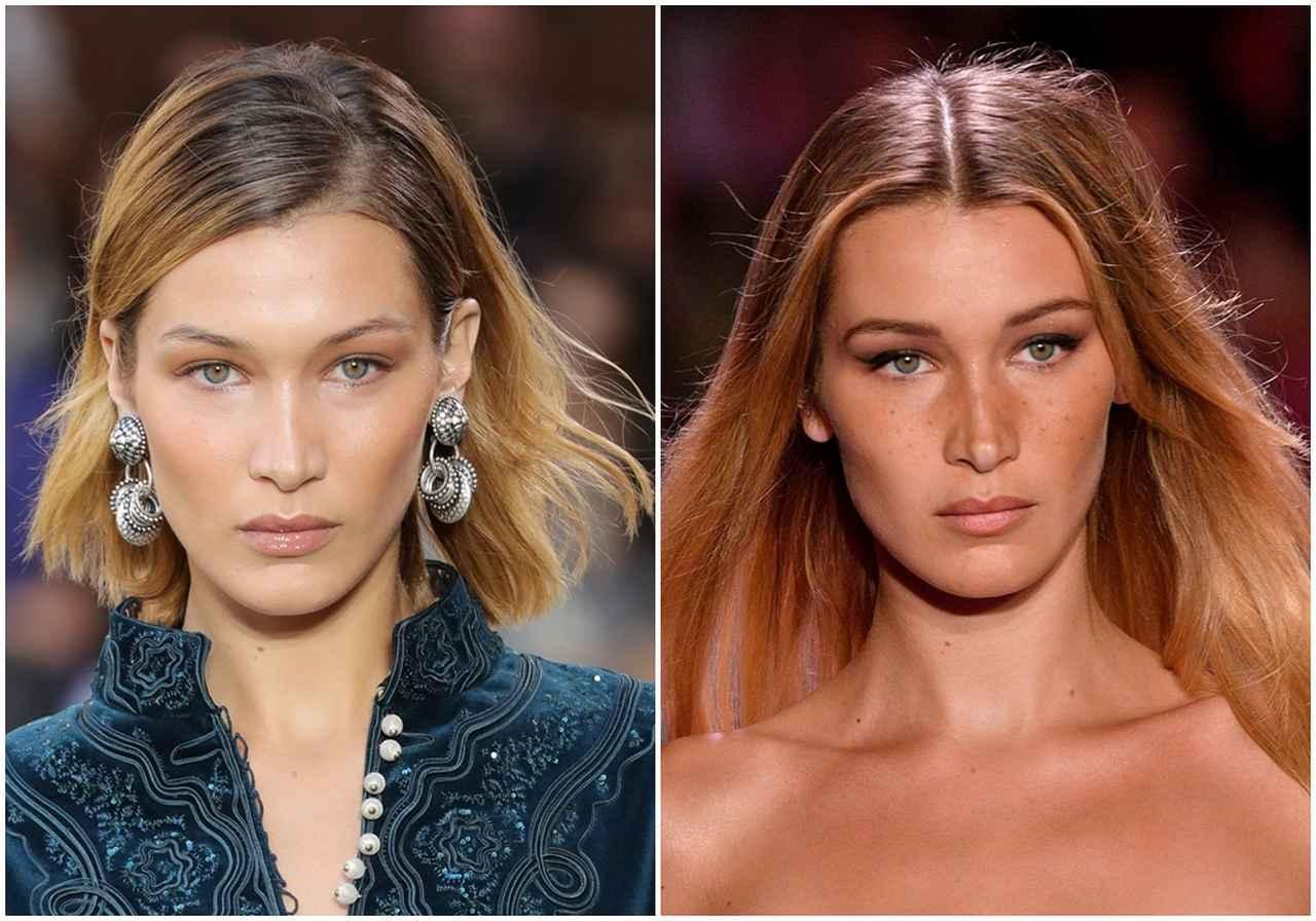 画像: 人気モデルのベラ・ハディッドも同じストレートでこの違い