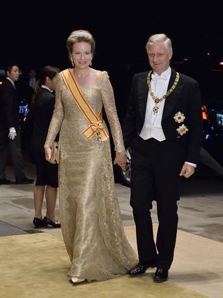 ベルギーのフィリップ国王とマチルド王妃