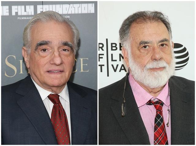 画像: マーティン・スコセッシ監督(左)、フランシス・フォード・コッポラ監督(右)