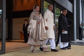 パキスタンのアリフ・アルビ大統領とサミナ・アルビ大統領夫人