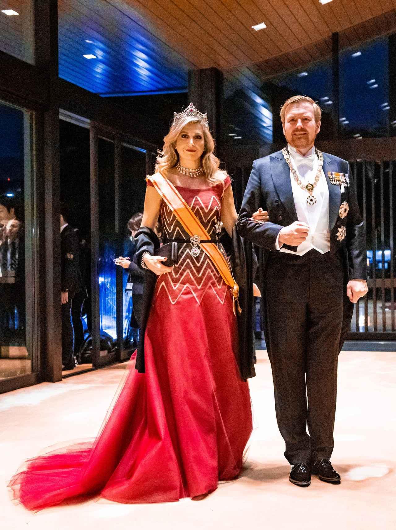 画像: オランダのウィレム・アレクサンダー国王とマキシマ王妃。