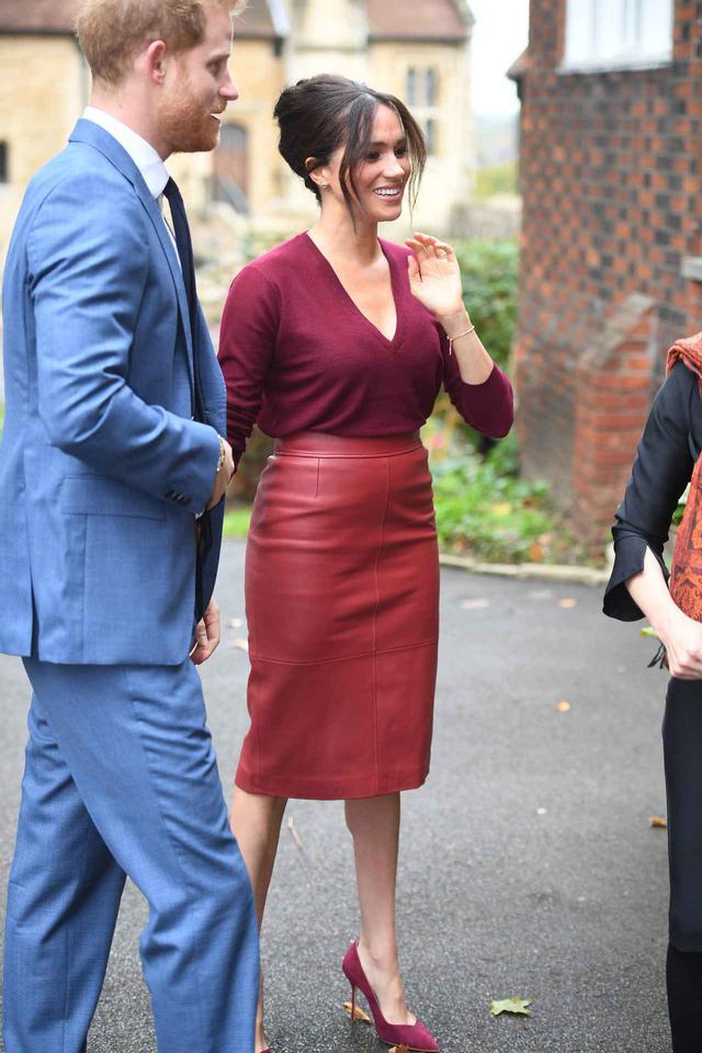 画像2: メーガン妃とレティシア王女が同じスカートを着用
