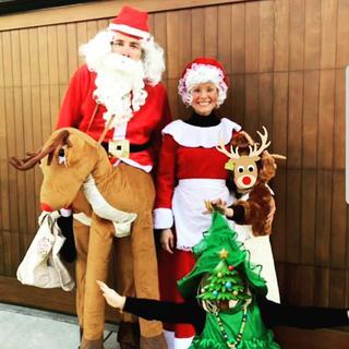 ダックス・シェパード&クリステン・ベル:サンタクロース