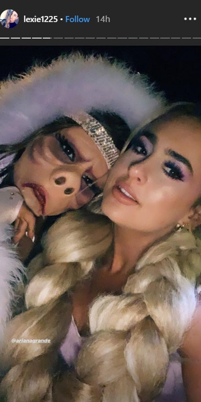 画像: アリアナとアレクサのパーティーでのツーショット。©Alexa Luria/Instagram