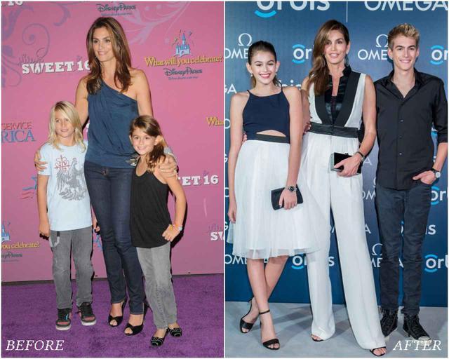 画像: <Before>幼少期のプレスリー(左)とカイア(右)、 <After>現在のカイア&プレスリー。