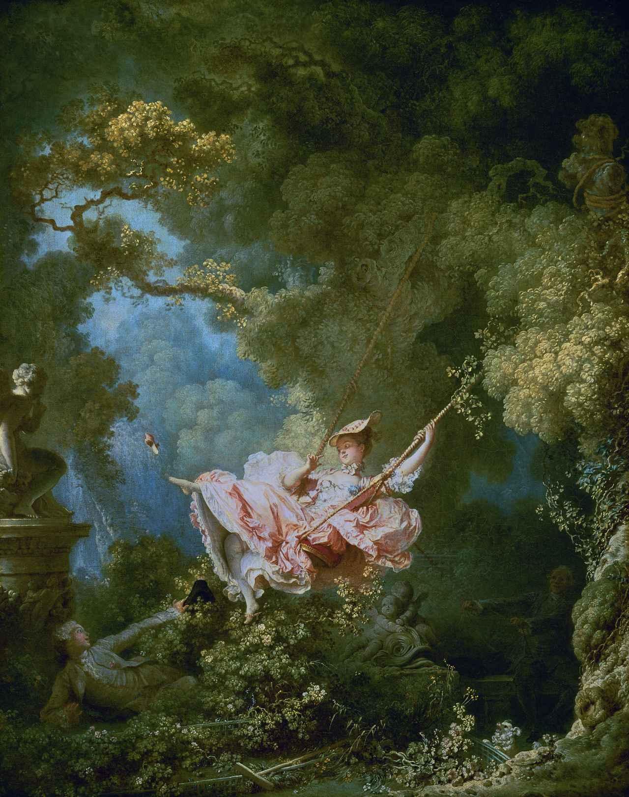 画像: ジャン・オノレ・フラゴナール『ぶらんこ(The Swing)』油彩、キャンバス(1767)
