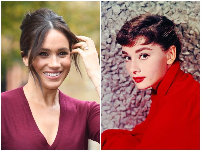 画像: 左:メーガン妃、右:オードリー・ヘップバーン
