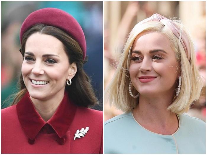 画像: 左:キャサリン妃、右:ケイティ・ペリー