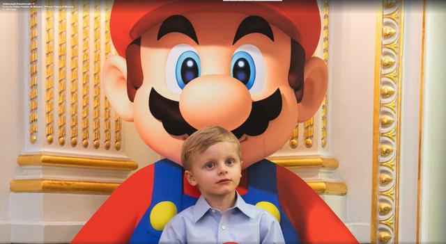画像: ジャック公子とマリオの2ショット。 Facebook/ Prince's Palace of Monaco