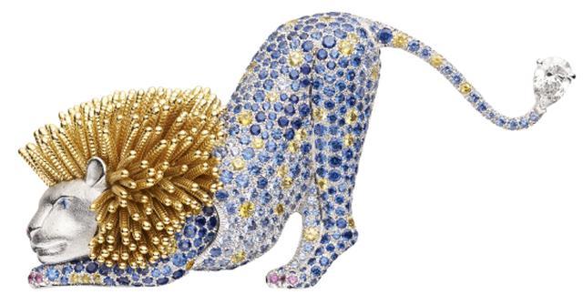 画像: 「レ モンド ドゥ ショーメ」コレクション トレゾール ダフリック エスピエグルリ ブローチ ライオン