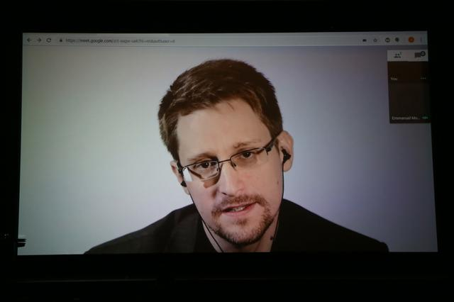 画像: ロシアで逃亡生活を続けている元NSA職員のエドワード・スノーデン。
