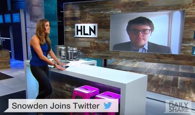 画像: エドワード・スノーデン支持者としてニュース番組に出演したジョン・ヘンドレン(右)。©HLN