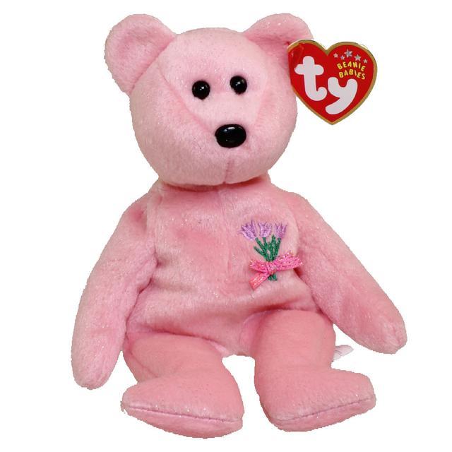 画像: 一般的なビーニー・ベイビーズのクマのぬいぐるみの一例。