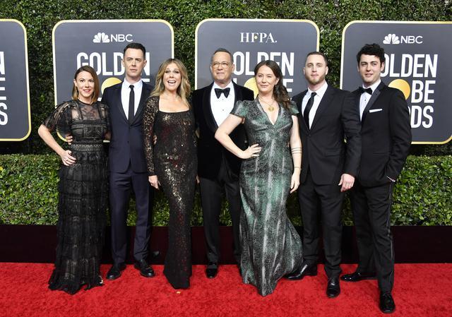 画像: トム・ハンクスは第77回ゴールデン・グローブ賞に家族を同伴した。