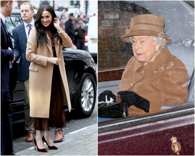 画像: 左は王室離脱発表の前日にカナダハウスを訪問した際のメーガン妃。