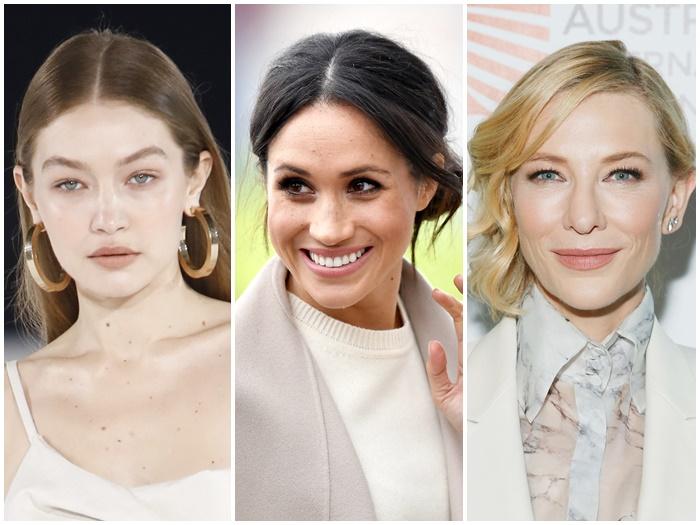 画像: 左からモデルのジジ・ハディッド、メーガン妃、女優のケイト・ブランシェット