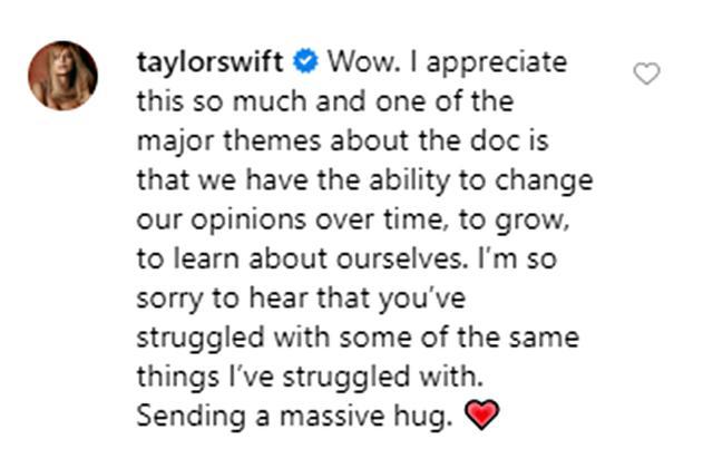 画像: テイラーが愛の返信