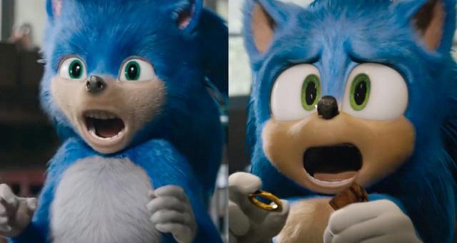 画像: 左が前予告編に登場した不気味すぎるソニック。右が新生ソニック。右©Paramount Pictures/ YouTube