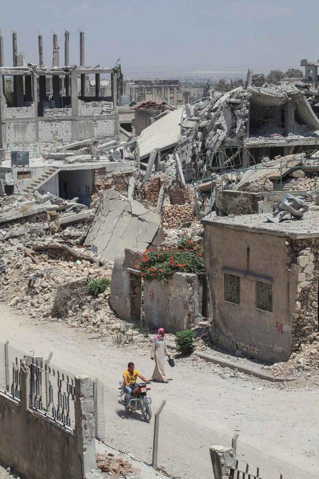 画像: 2015年に撮影されたシリアの都市アイン・アル=アラブ。