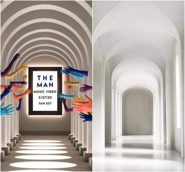 画像: 右はキムが公開した自宅の廊下の写真。©Kim Kardashian/ Twitter