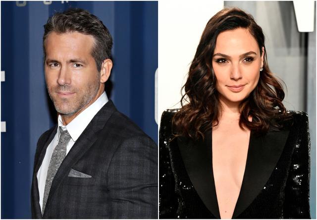 """画像: 左:ライアン・レイノルズ、右:ガル・ガドット。2人とも役どころの詳細は未発表。ガルは""""謎の女性""""を演じることのみ明かされている。"""