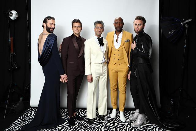 画像: 左から、『クィア・アイ』のファブ5であるジョナサン・ヴァン・ネス、アントニ・ポロウスキ、タン・フランス、カラモ・ブラウン、ボビー・バーク。