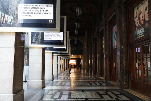 画像: 閉館中の北イタリアの映画館