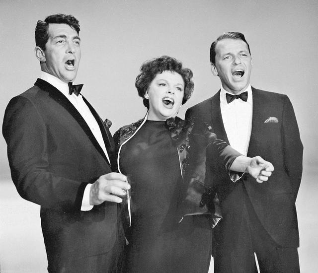 画像: ディーン・マーティン(左)、ジュディ・ガーランド(中央)、フランク・シナトラ(右)