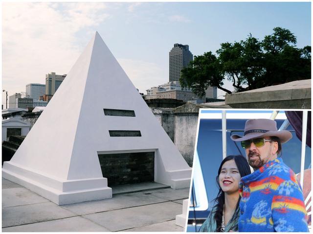 画像: ニコラス・ケイジの墓と、交際中の日本人彼女シバタ・リコ