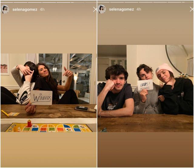 画像: ゲームの結果は、マディソンチームが勝者、セレーナチームが敗者となったよう。『ザ・バチェラー』では主役の男性が女性たちにバラの花を渡して存続を告げるのが習わしで、マディソンが書いた「Winner」の文字にはバラの花が取り入れられている。©Selena Gomez/Instagram