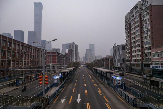 画像: 人影がない中国の北京。(2020年3月6日撮影)