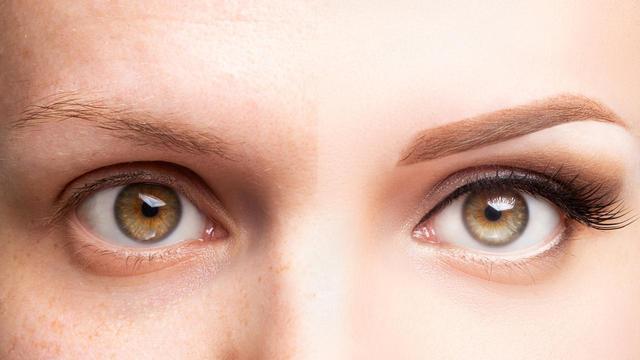 画像: 左右で形が違う「残念眉」
