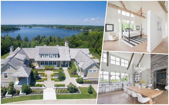 画像: カナダにあるビーバー夫妻の別邸。