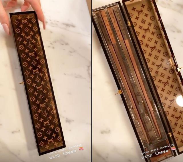 画像: カイリー・ジェンナーのマイ箸をお披露目