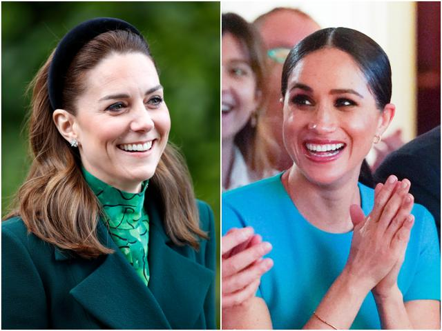 画像: 左:キャサリン妃、右:メーガン妃
